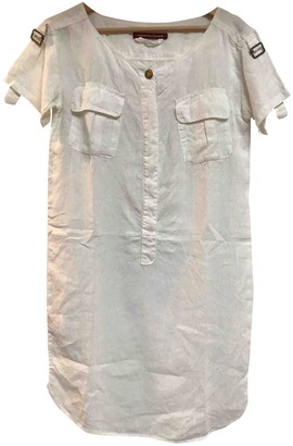 Comptoir des Cotonniers White Linen Dress for Women