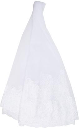 Alberta Ferretti Floral-Lace Trimmed Veil