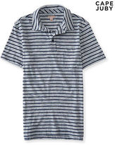 Aeropostale Mens Cape Juby Striped Jersey Polo Shirt