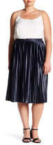Topshop Jersey Pleated Midi Skirt (Plus Size)