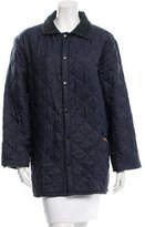 Barbour Corduroy-Accented Quilted Coat