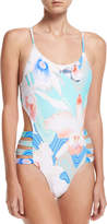 6 Shore Road Beach Party Strappy-Sides One-Piece Swimsuit