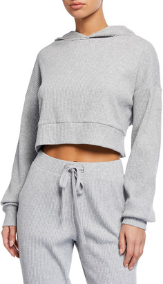Alo Yoga Muse Ribbed Hoodie Sweatshirt