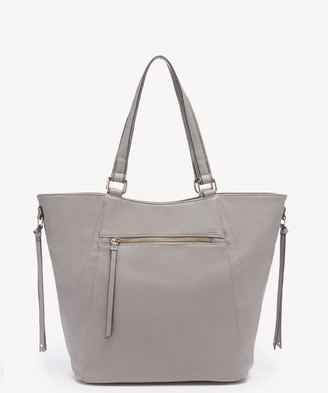 Sole Society Women's Naomi Tote Vegan Leather Light Grey From