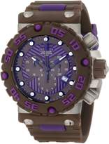 Invicta Men's Subaqua/Nitro Diver Chronograph Black/Purple Dial Brown Polyurethane