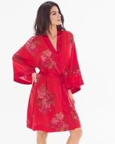 Soma Intimates Chiffon Short Robe Garden Affair Ruby