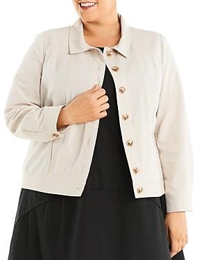 Estelle Plus Sandy Days Collared Jacket