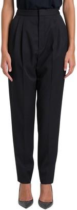 Saint Laurent Twill Tuxed Trousers