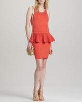 Milly Nicole Crochet Peplum Dress, Kumquat