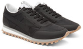 Marc Jacobs Bolt Matte-leather And Shell Sneakers - Black