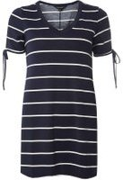 Dorothy Perkins Womens Navy and Ivory Stripe Tunic- Blue
