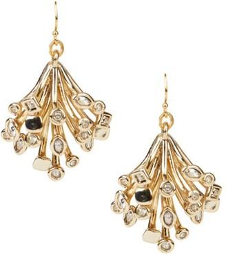 Alexis Bittar 10K Goldplated & Crystal Burst Wire Drop Earrings