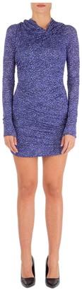 Isabel Marant Leopard Print Ruched Mini Dress