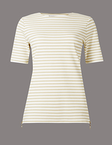 Autograph Striped Ponte Short Sleeve T-Shirt