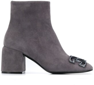 Casadei Suede 70mm Ankle Boots