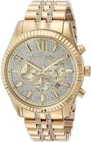 Michael Kors Men's Quartz Stainless Steel Casual Watch, Color:-Toned