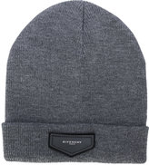 Givenchy patch detail beanie - men - Acrylic/Wool - One Size