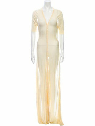 Jacquemus V-Neck Long Dress w/ Tags Yellow