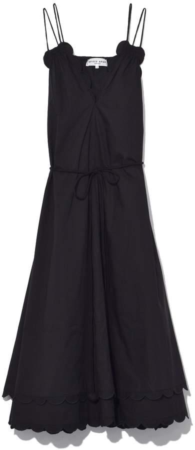 Apiece Apart Mirage Scallop Dress in Black