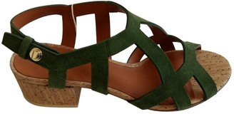 Givenchy Green Suede Sandals