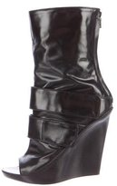 Givenchy Peep-Toe Wedge Boots