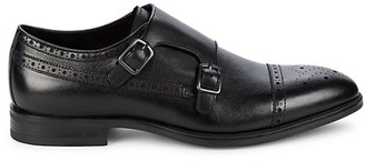Kenneth Cole Futurepod Brogue Double Monk Strap Oxfords