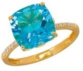Lord & Taylor 0.07TCW Diamonds, Topaz and 14K Yellow Gold Ring