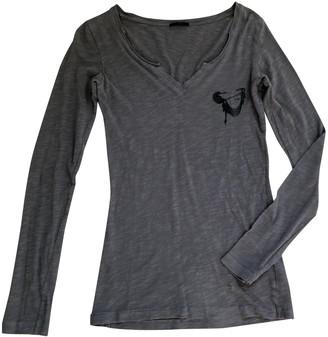 Ikks Grey Cotton Top for Women