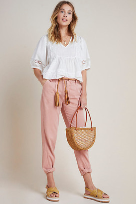 Anthropologie Scout Tapered Slim Pants By in White Size 26