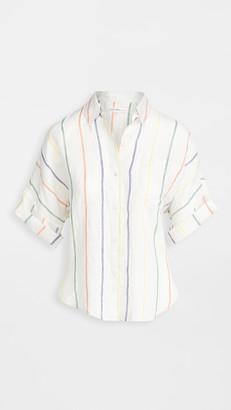Alex Mill Charlie Shirt In Multi Stripe Linen