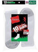 Hanes Boys' Ankle EZ Sort Socks 10-Pk