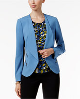 Nine West Draped Zip-Pocket Blazer