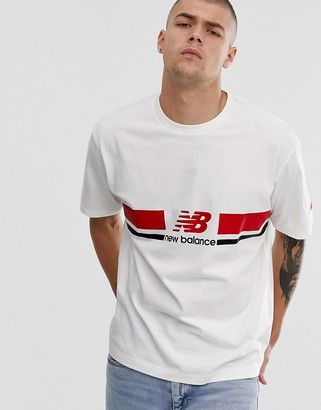 New Balance Athletics t-shirt with chest logo in white