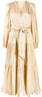 Ulla Johnson Tiered Belted Midi Dress
