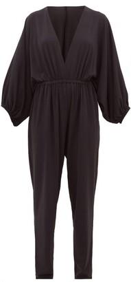 Eres Lou Stretch Mesh Jumpsuit - Womens - Black