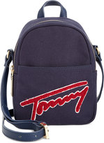 Tommy Hilfiger Aurora Embellished Canvas Mini Backpack Crossbody