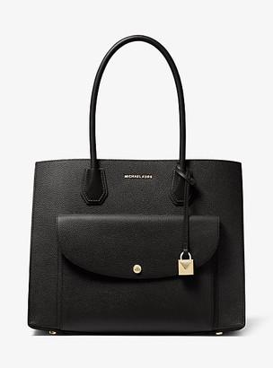Michael Kors Mercer Extra-Large Pebbled Leather Pocket Tote Bag