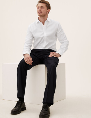 Marks and Spencer Pure Cotton Tailored Fit Shirt