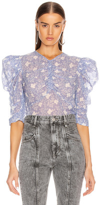 Isabel Marant Eddie Top in Lavender | FWRD