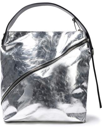 Proenza Schouler Zip-detailed Metallic Leather Shoulder Bag