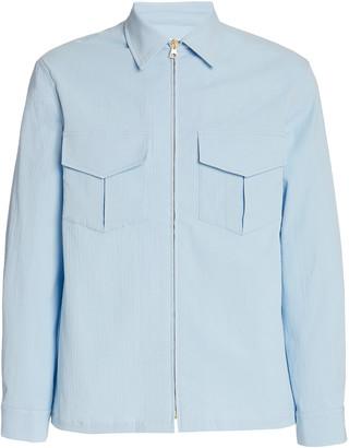 Casablanca Zip-Up Cotton-Blend Jacket