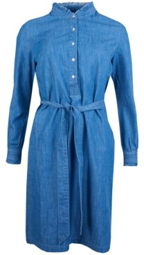 Barbour Robertshaw Button-Front Belted Dress