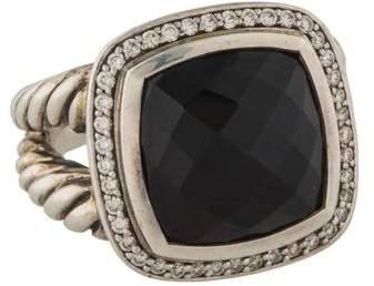 David Yurman Onyx & Diamond Albion Ring