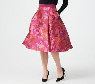 Isaac Mizrahi Live! Special Edition Floral Printed Ball Skirt