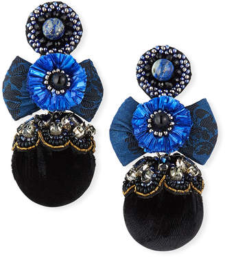 Ranjana Khan Nailah Clip-On Bow Pom Earrings