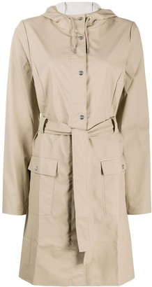 Rains Curve single-breasted raincoat