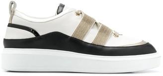 Steffen Schraut Metallic Strap Platform Sneakers