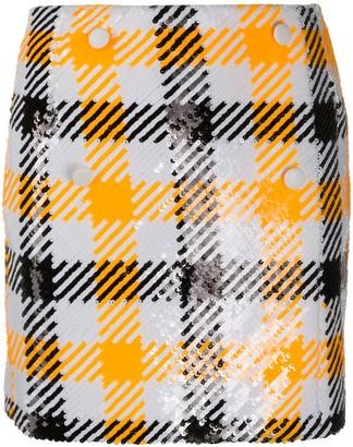 Rotate by Birger Christensen Checked Straight Skirt