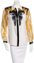Francesco Scognamiglio Printed Button-Up Top w/ Tags