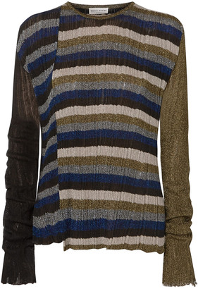 Sonia Rykiel Metallic Striped Ribbed-knit Sweater